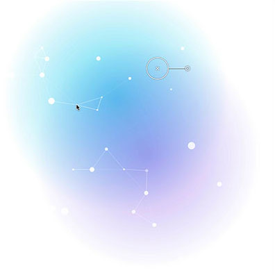 Particle Glow with ParticlesJS