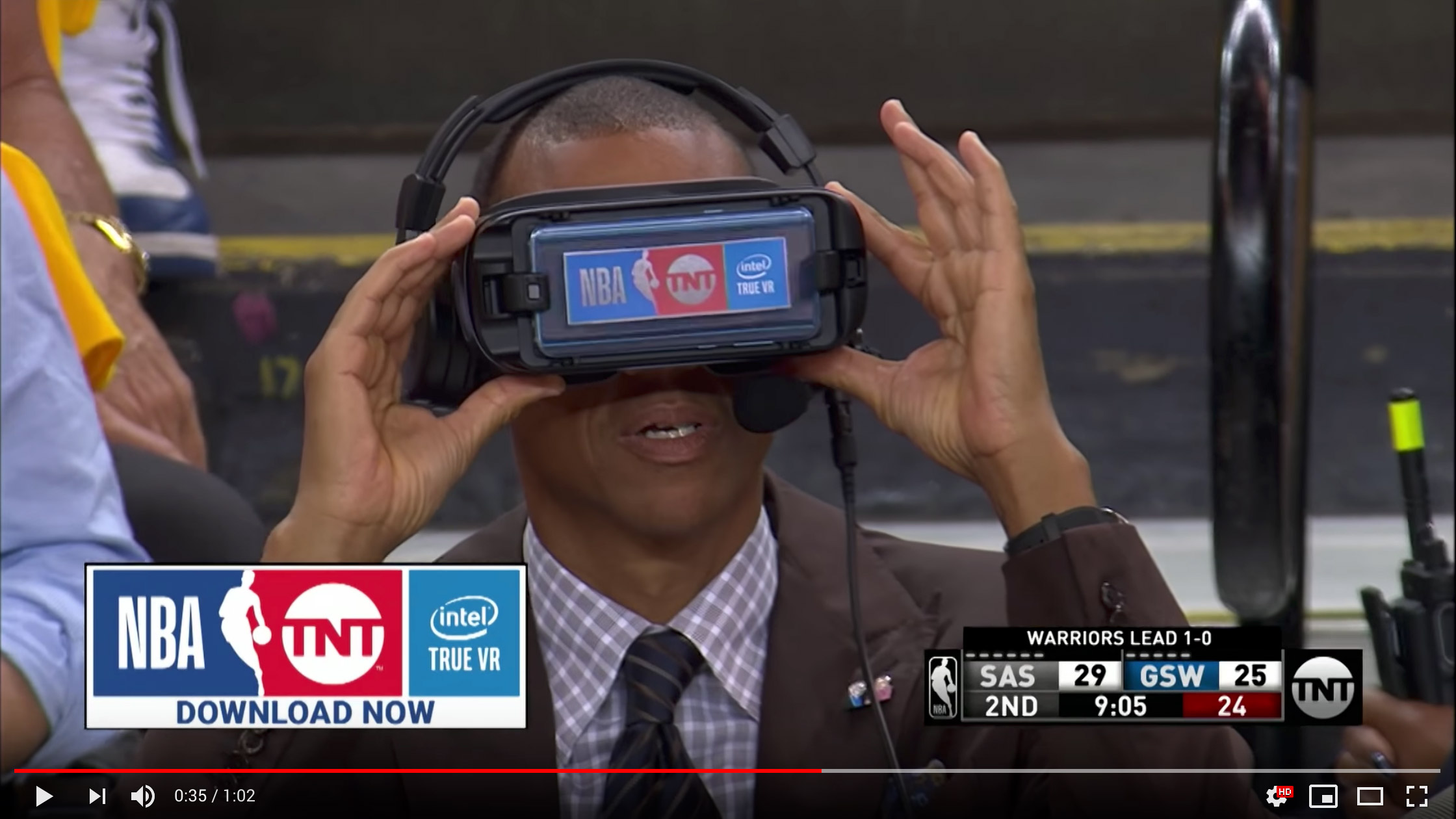 Reggie Miller checking out the virtual goods
